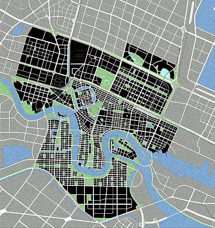 滨海新城概念性城市规划